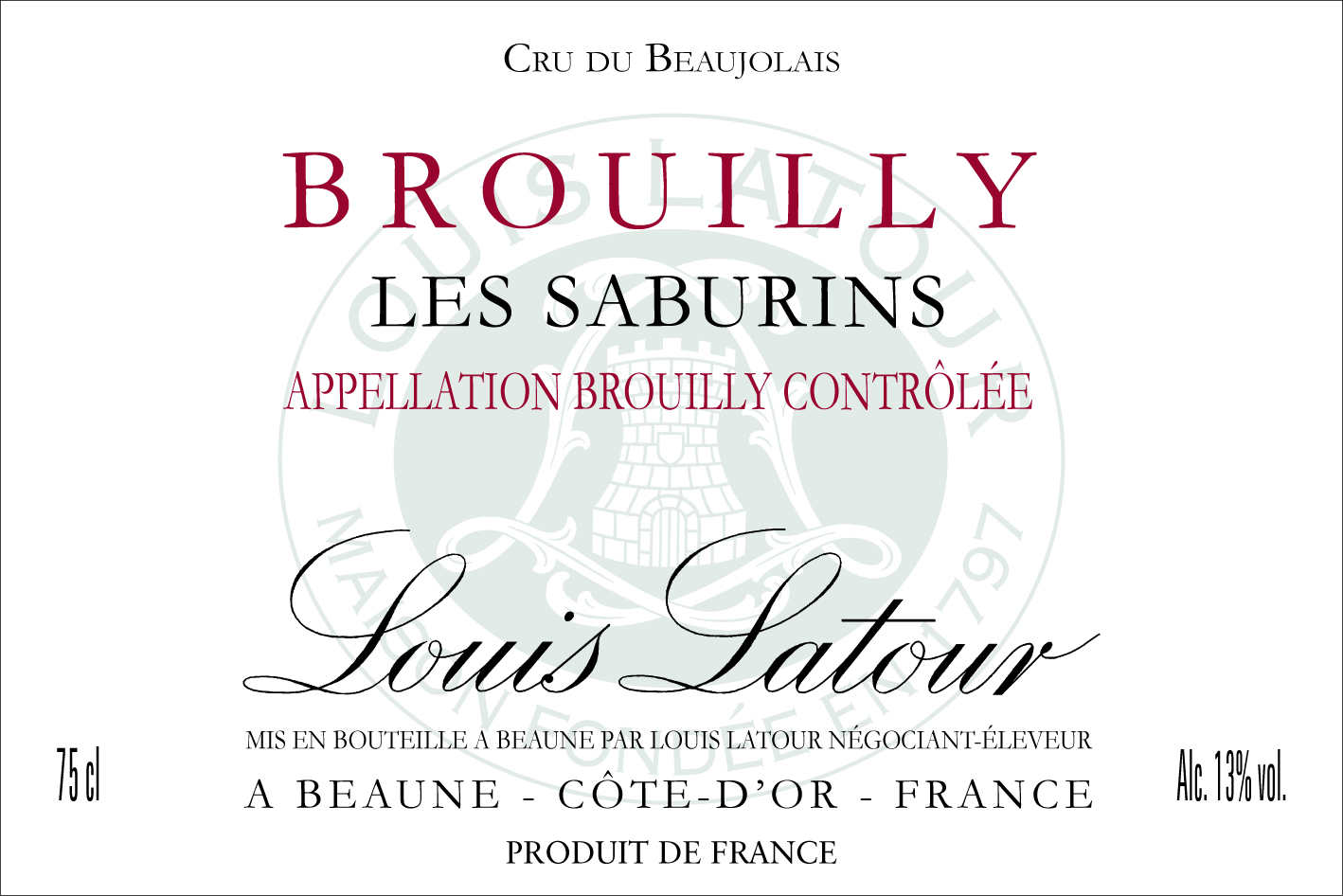 photo Maison Louis Latour Brouilly